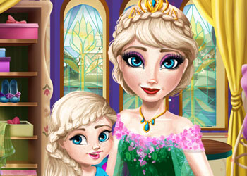 Play Ice Queen Mommy Real Makeover online - Screenshot 2