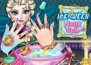 Play Ice Queen Nails Spa online - Screenshot 1