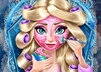 Play Ice Queen Real Makeover online - Screenshot 1