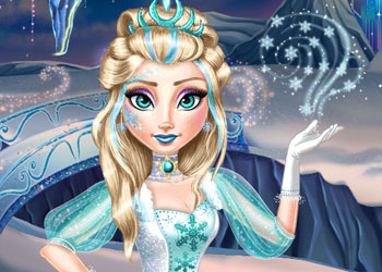 Play Ice Queen Real Makeover online - Screenshot 2