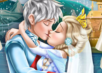 Play Ice Queen Wedding Kiss online - Screenshot 1