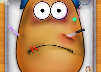 Play Injured Pou online - Screenshot 1