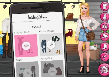 Play Instagirls Dress Up online - Screenshot 1