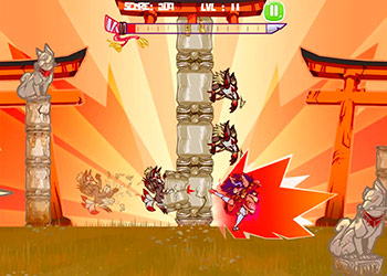 Play Kitsune Power Destruction online - Screenshot 2