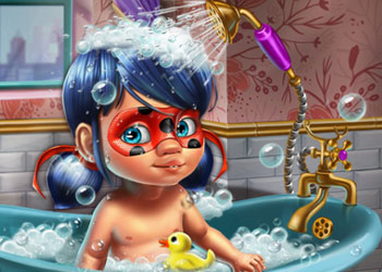 Play Ladybug Baby Shower Care online - Screenshot 1