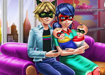 Play Ladybug Twins Family Day online - Screenshot 1