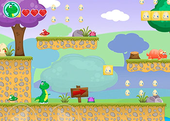 Play Little Dino Adventure online - Screenshot 1