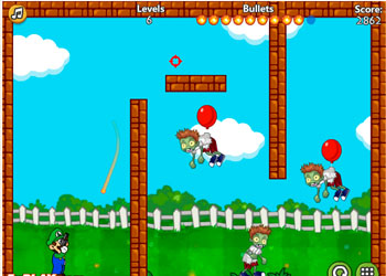 Play Luigi Shoot Zombie online - Screenshot 1