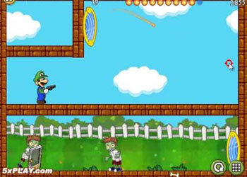 Play Luigi Shoot Zombie online - Screenshot 2