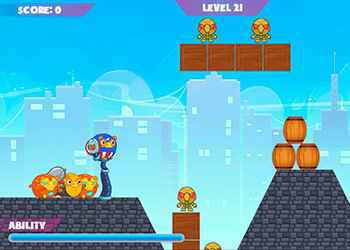 Play Mango Piggy Piggy Hero online - Screenshot 2