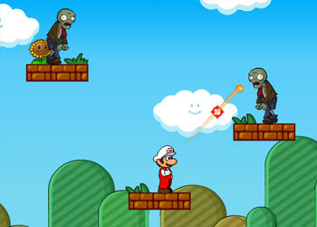 Play Mario Shoot Zombie online - Screenshot 2