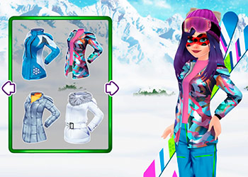 Play Mask Lady Ski Time online - Screenshot 1