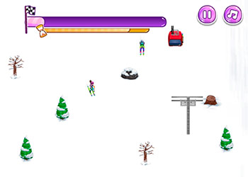 Play Mask Lady Ski Time online - Screenshot 2
