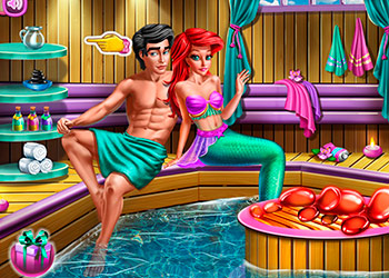 Play Mermaid Sauna Flirting online - Screenshot 2