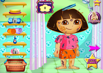 Play Messy Dora online - Screenshot 1