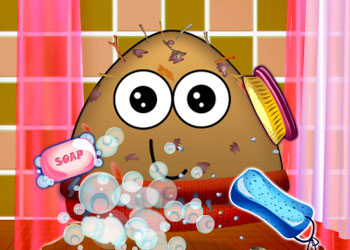 Play Messy Pou online - Screenshot 1