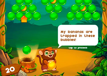 Play Monkey Bubble Shooter online - Screenshot 1