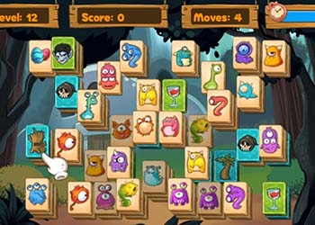 Play Monster Mahjong online - Screenshot 2