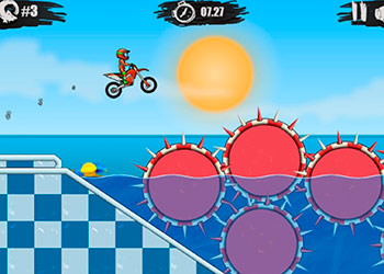 Play Moto X3M: Pool Party online - Screenshot 1
