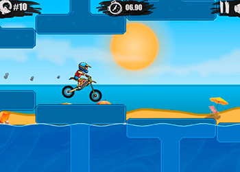 Play Moto X3M: Pool Party online - Screenshot 2