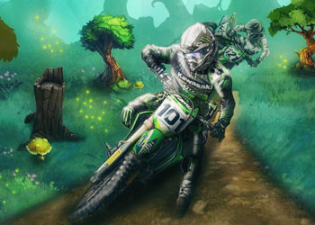 Play Motocross Forest Challenge 2 online - Screenshot 1