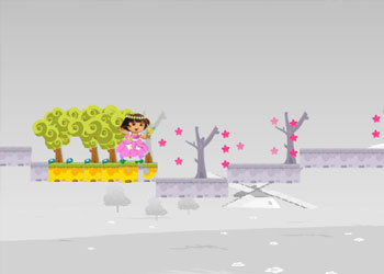 Play New Dora Flower World online - Screenshot 1
