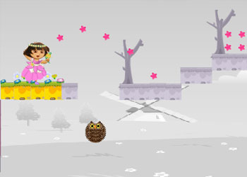 Play New Dora Flower World online - Screenshot 2