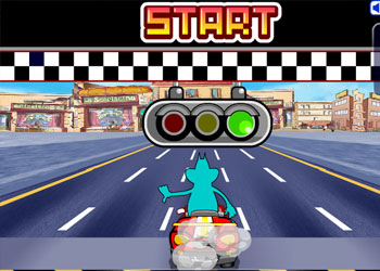 Play Oggy And The Cockroaches Top Racer online - Screenshot 1