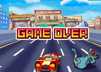 Play Oggy And The Cockroaches Top Racer online - Screenshot 2