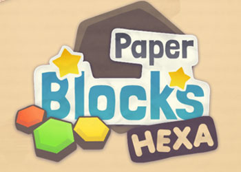 Play Paper Blocks Hexa online - Screenshot 1