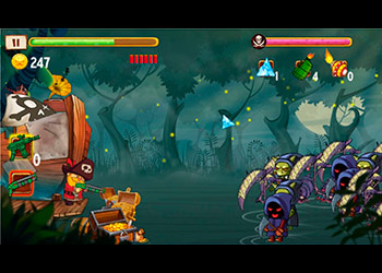 Play Pirates vs Zombies online - Screenshot 2