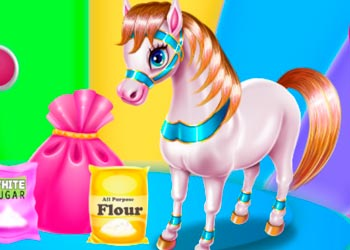 Play Pony Cooking Rainbow Cake online - Screenshot 1