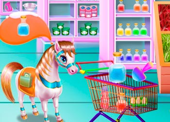 Play Pony Cooking Rainbow Cake online - Screenshot 2