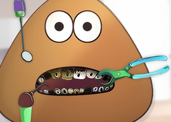 Play Pou Bad Teeth online - Screenshot 1