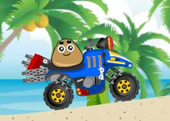 Play Pou Beach Ride online - Screenshot 1