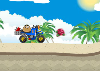 Play Pou Beach Ride online - Screenshot 2