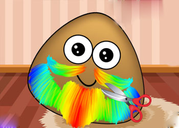 Play Pou Beard Salon online - Screenshot 1