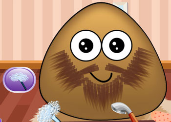 Play Pou Beard Salon online - Screenshot 2