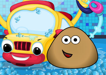 Play Pou Car Wash online - Screenshot 1