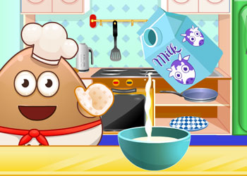 Play Pou Cooking Pancakes online - Screenshot 2