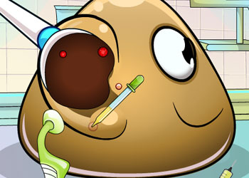 Play Pou Ear Doctor online - Screenshot 2