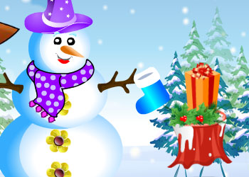 Play Pou Girl Building A Snowman online - Screenshot 2