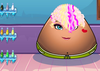 Play Pou Girl Hair Salon online - Screenshot 2