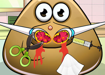 Play Pou Nose Doctor online - Screenshot 1