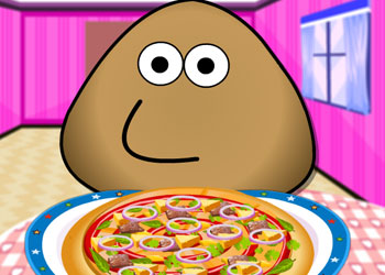 Play Pou Pizza Chef online - Screenshot 1
