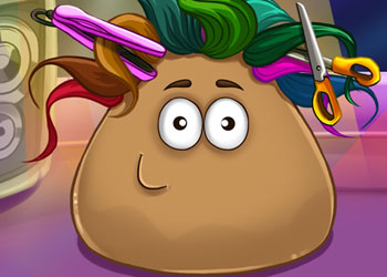 Play Pou Real Haircuts online - Screenshot 1
