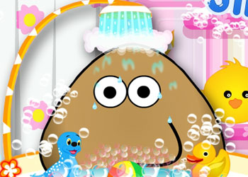 Play Pou Takes a Shower online - Screenshot 1