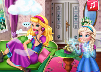 Play Prank the Nanny: Baby Elsa Frozen online - Screenshot 2