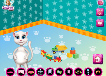 Play Pregnant Angela Baby Room Decor online - Screenshot 1