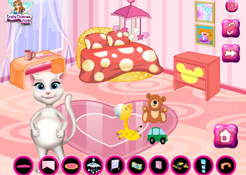 Play Pregnant Angela Baby Room Decor online - Screenshot 2